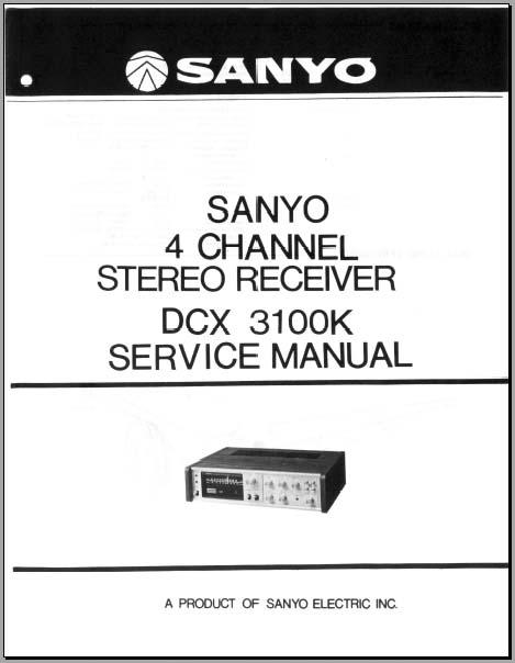 Sanyo DCX 3100k Service Manual, Analog Alley Manuals
