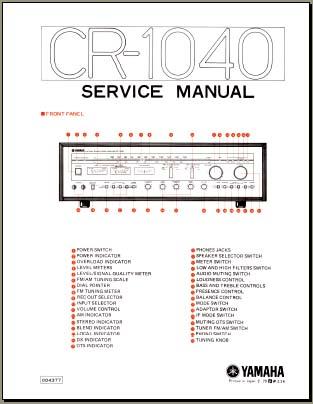 Yamaha CR-1040 Service Manual, Analog Alley Manuals