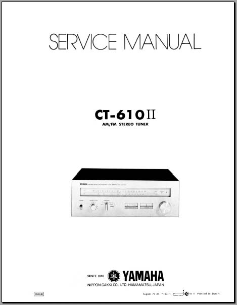 Yamaha CT-610 II Service Manual, Analog Alley Manuals