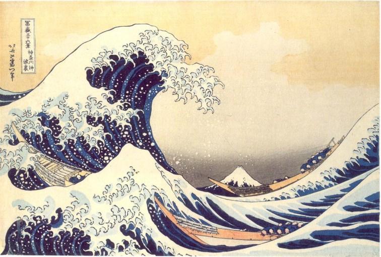 La ola de Hokusai.
