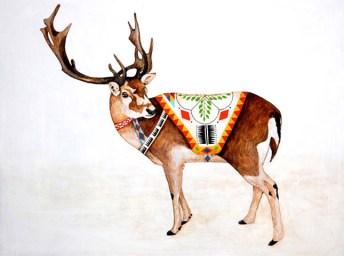 Ilustración de un ciervo de Lisa Congdon