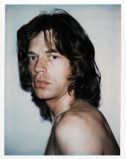 Polaroid de Mick Jagger hecha por Andy Warhol
