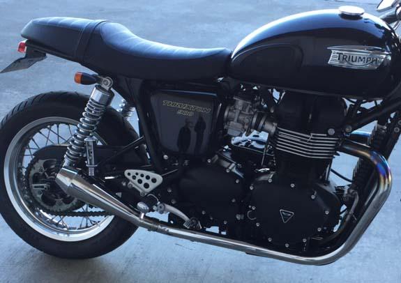 triumph bonneville t100 slip on exhaust