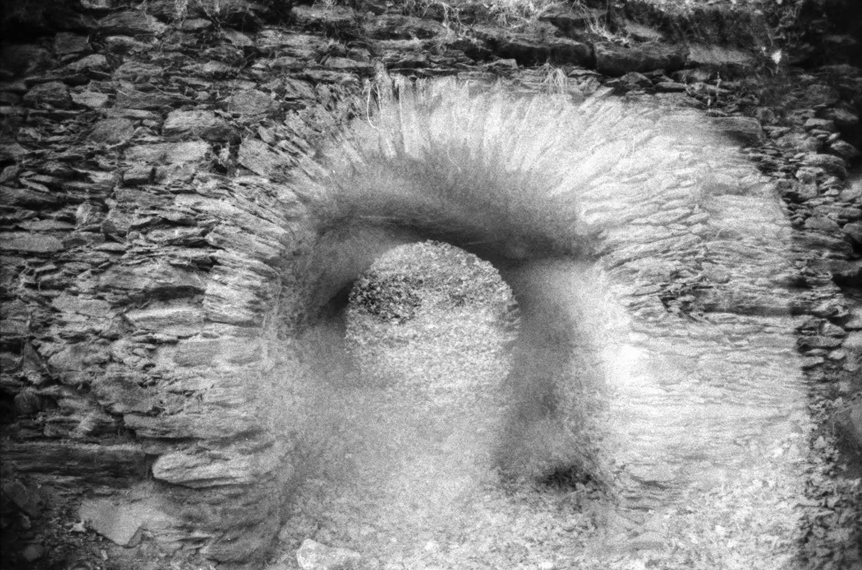 """Good & Gone: Celtic Iron, Double Exposed."" - Camera: Nikon F100, set to double exposure. Film: Foma Retropan 320."