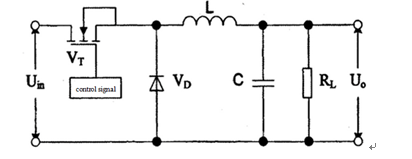 The working principle of DC-DC step down converter circuit
