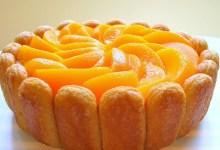 Photo of طريقة عمل شارلوت روس البرتقال والخوخ