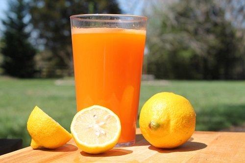عصير الليمون والبرتقال