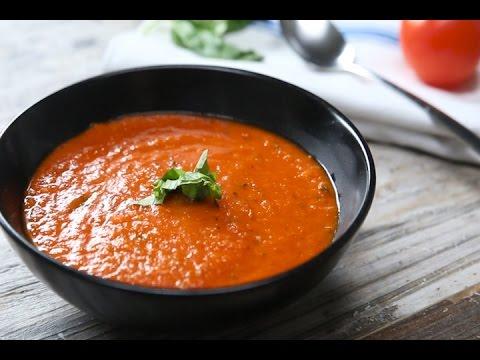 طريقة عمل شوربة الطماطم المشوية