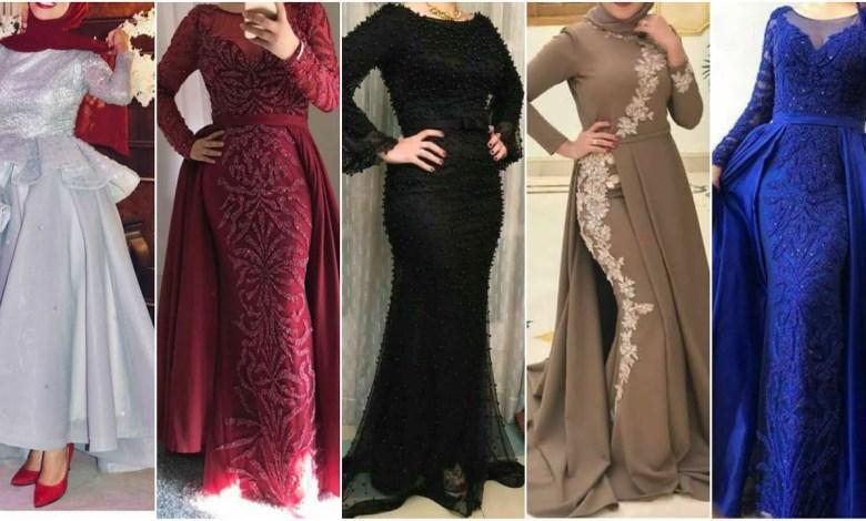 تصاميم مميزة لفساتين المحجبات