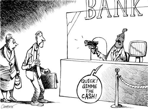 Όσο οι καταθέσεις μειώνονται, τόσο πιο πολύ κινδυνεύουν: Δεν έχει αποφευχθεί ούτε η διάσωση των τραπεζών από τους καταθέτες, ούτε η χρεοκοπία, ούτε η δραχμή