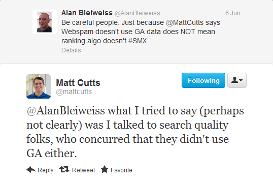 Matt Cutts Google Analytics