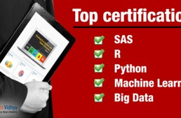 Top certifications for SAS, R, Python, Machine Learning or Big Data
