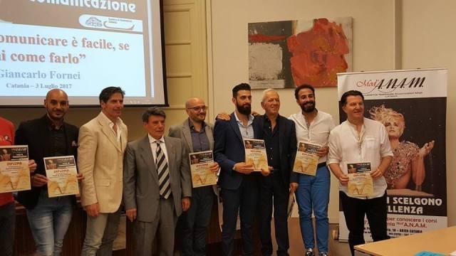 Giancarlo Fornei a Catania 3 luglio 2017 - con Francesco Gagliano