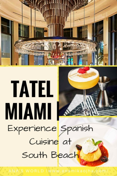 TATEL Miami| Experience Spanish Cuisine at South Beach