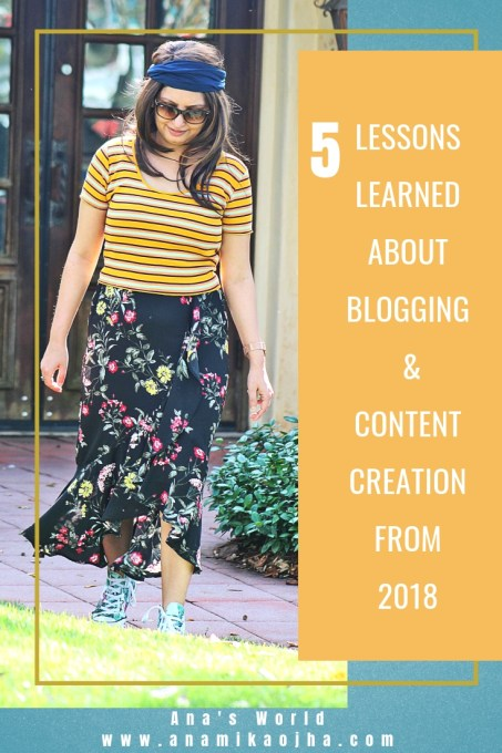 5 Lessons Learned About Blogging & Content Creation From 2018