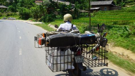 They transport everything on motorbikes.. even motorbikes