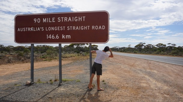 Nullarbor: there is literally nothing to prevent the road from going straight