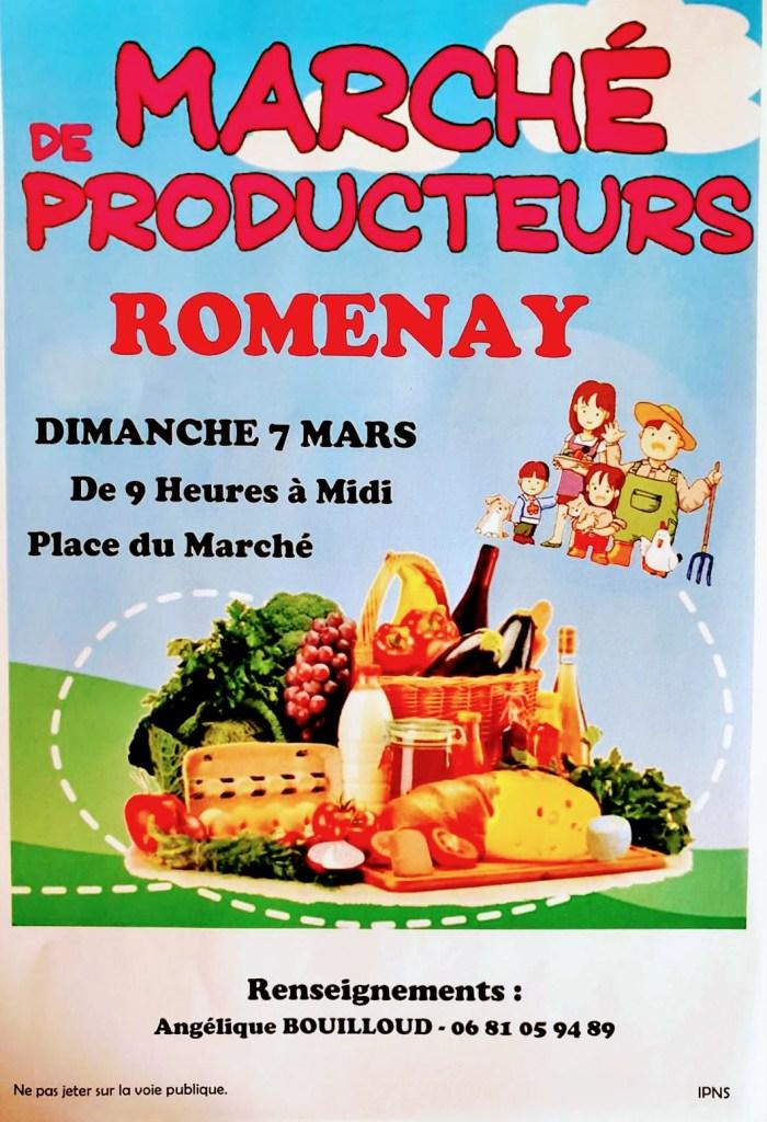 Affiche du marché de producteurs de Romenay