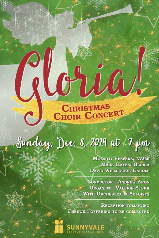 Christmas Choir Concert poster designed by Anandena Creations