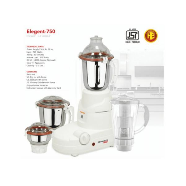 Orange elegant mixer grinder