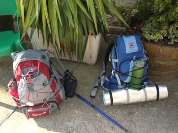 e nossas mochilas...