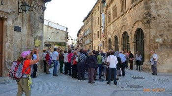 Muito turistas no centro histórico