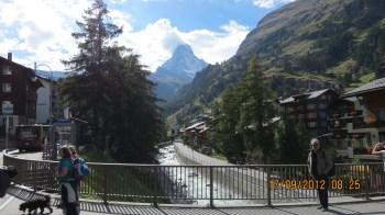Rio Matter Vispa com o Matterhorn ao Fundo
