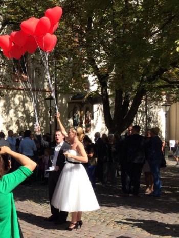 Um dos casamentos na Praça...