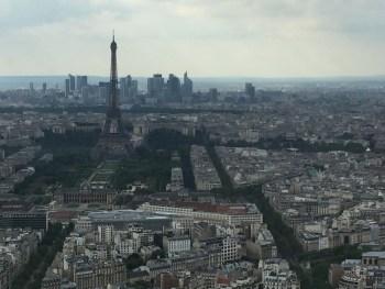 A vista de cima da Torre de Montparnasse