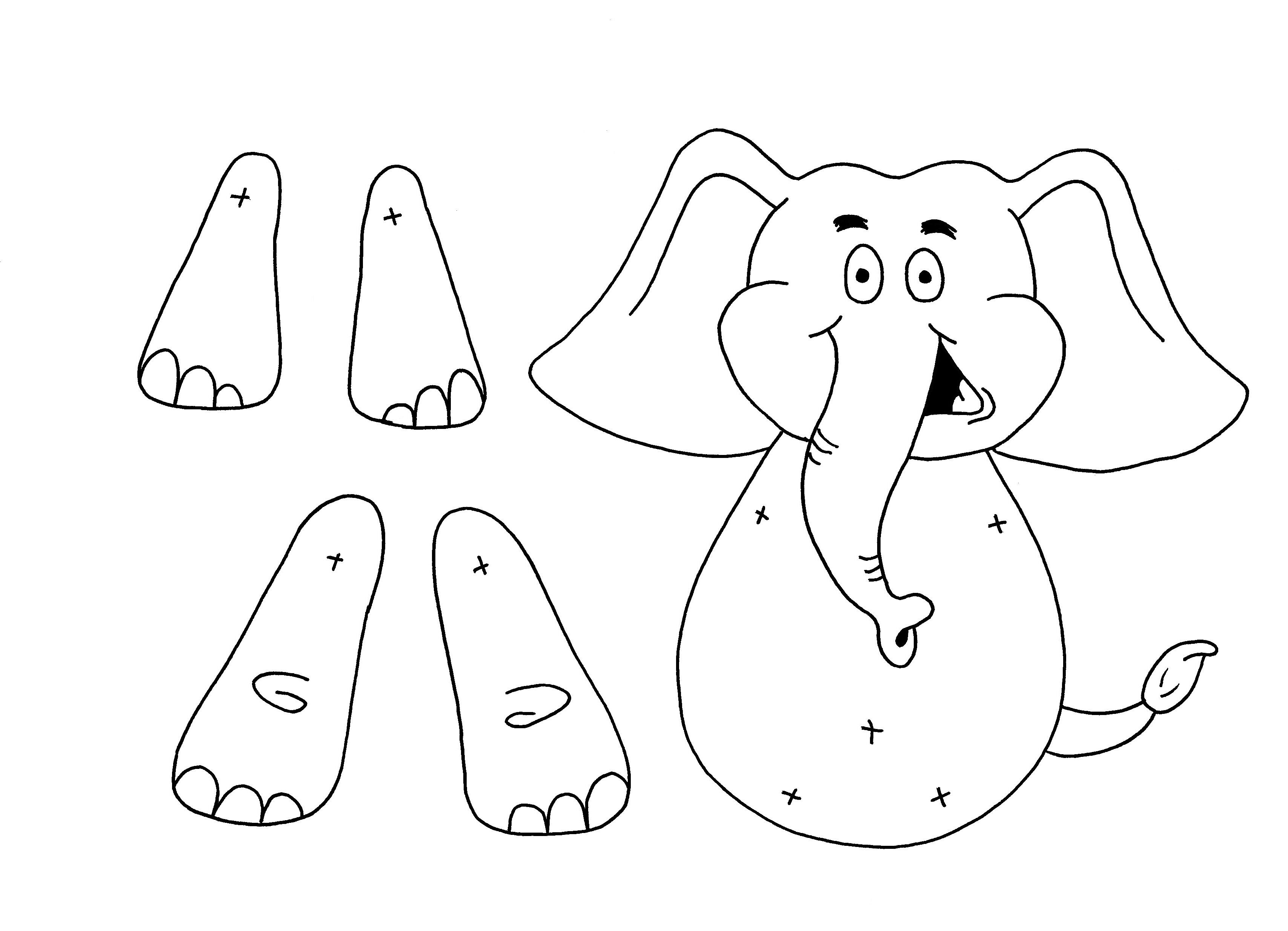 Download PDF Hippo colouring sheet