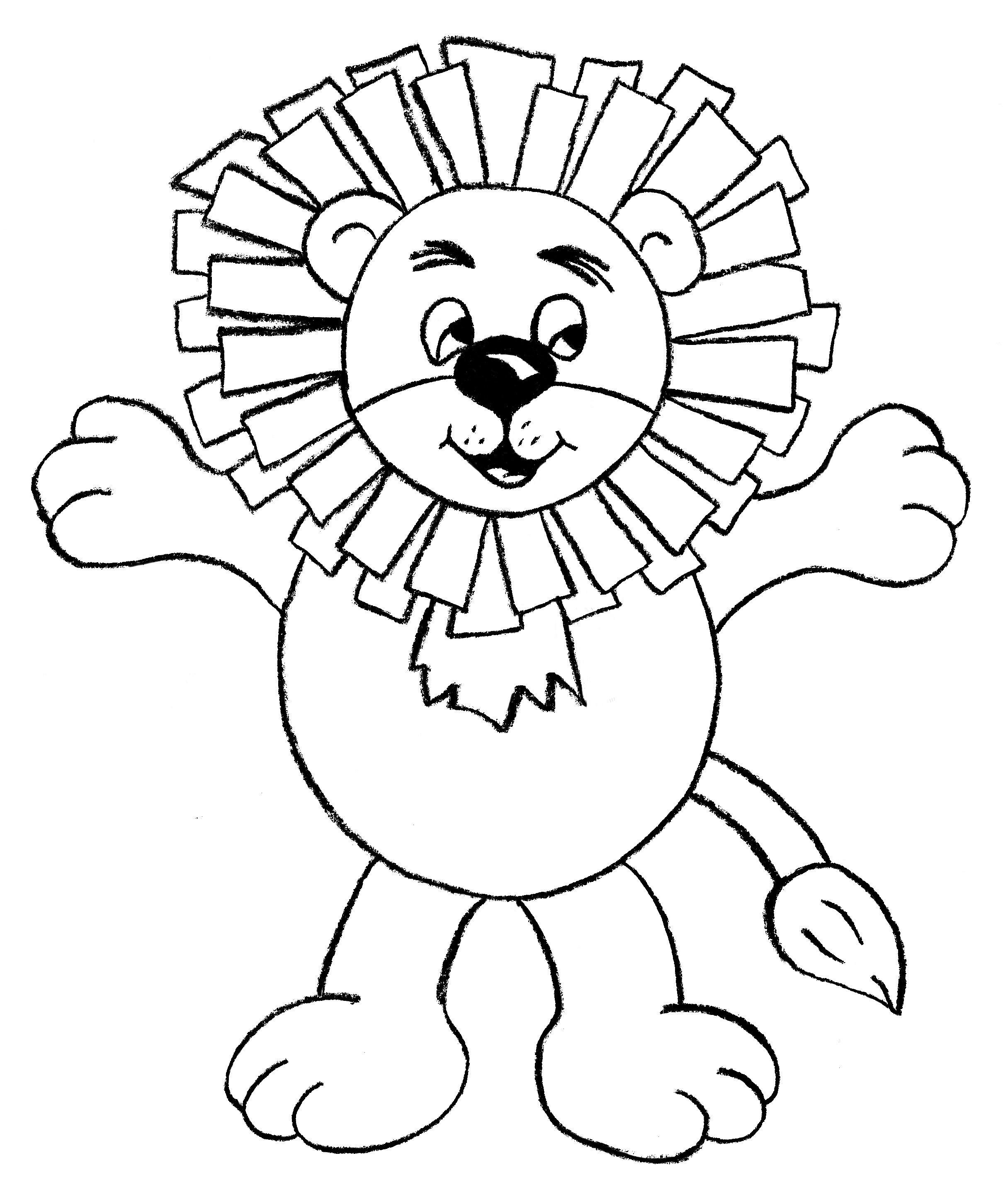Download PDF Lion finger puppet