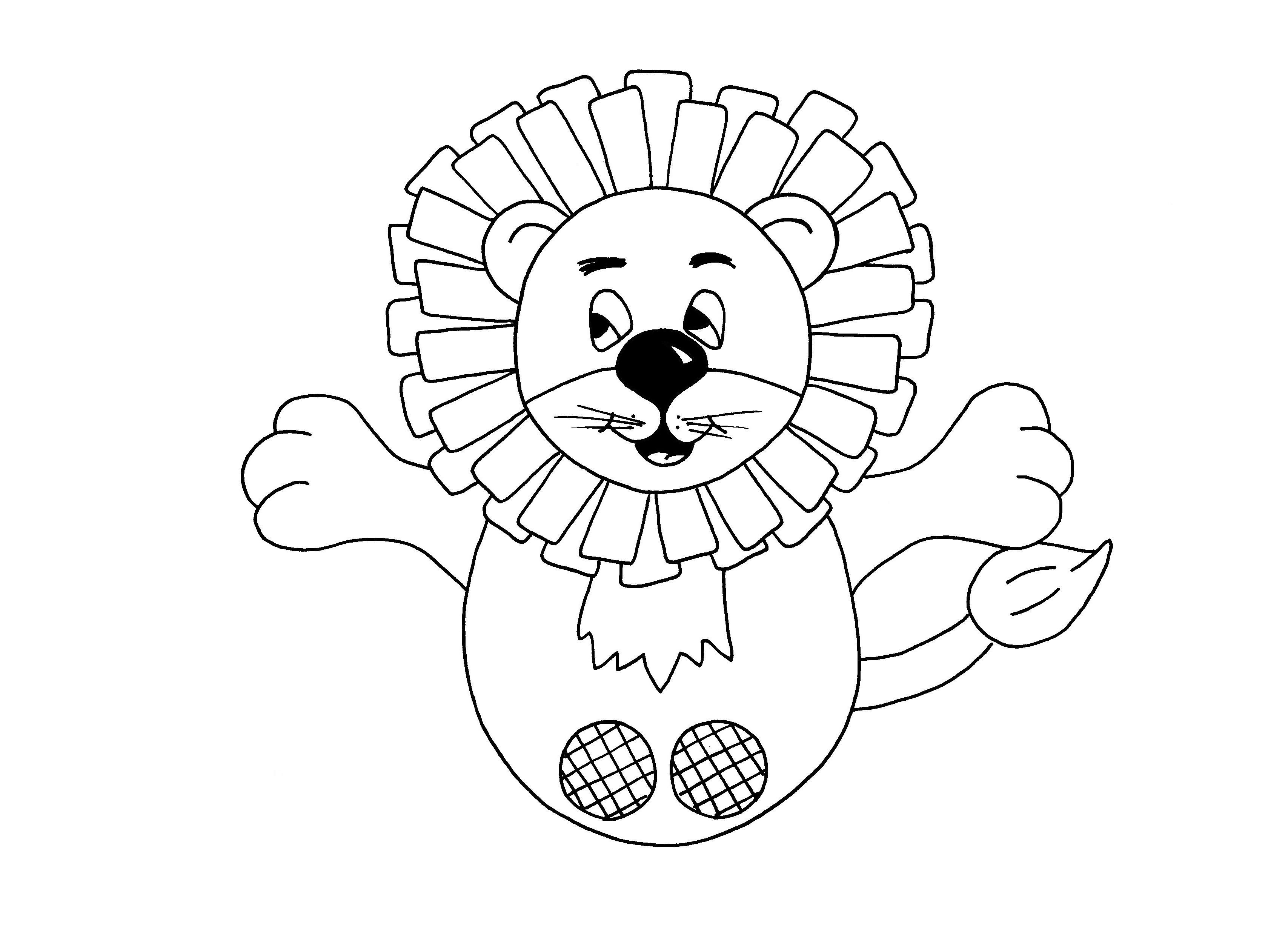Download PDF Lion puppet