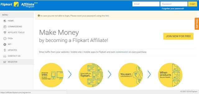 Flipkart Affiliate Program - Top Affiliate network in India
