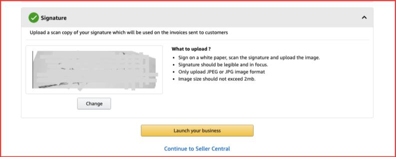 Signature - Dashboard - Sell on Amazon