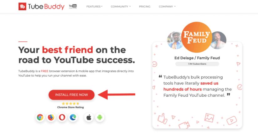 1. Install TubeBuddy Google Chrome Extension