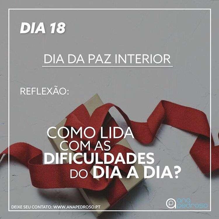 #18 Dia | DIA DA PAZ INTERIOR!