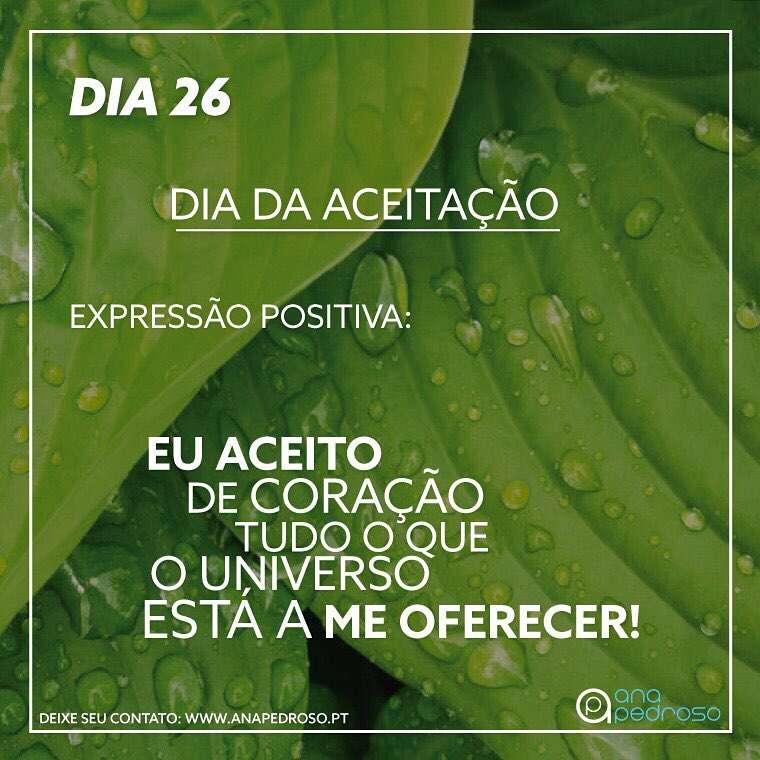 #26 Dia | DIA DA ACEITAÇÃO!