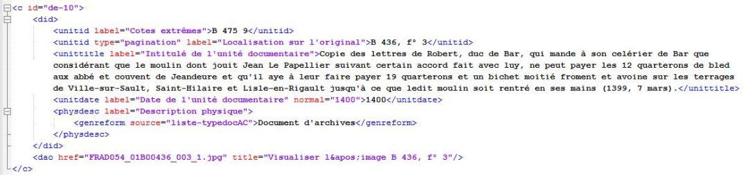 La description encodée de la pièce cotée B 475 9