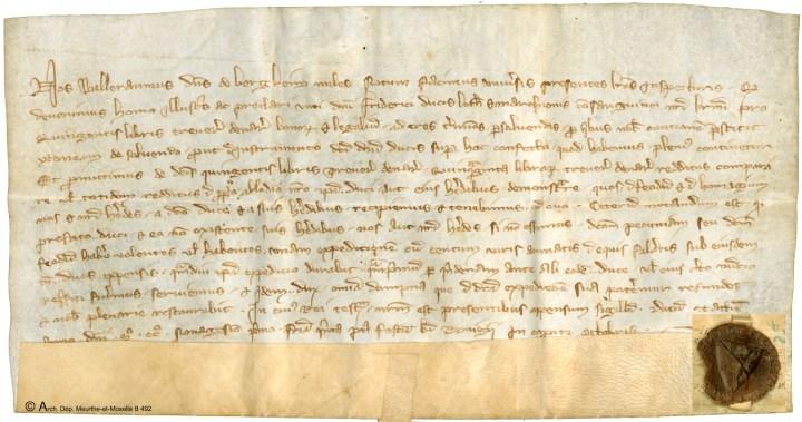 Document concernant les fiefs d'Alsace (Lancelot, B 437)