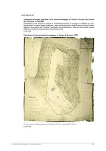 plan du parc à Aumont en 1790