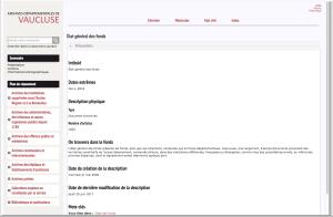 application bach des Archives de Vaucluse