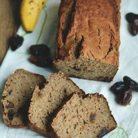 Chlebek bananowy z daktylami (bez cukru i oleju) / Banana bread with dates (sugar- and oil- free).