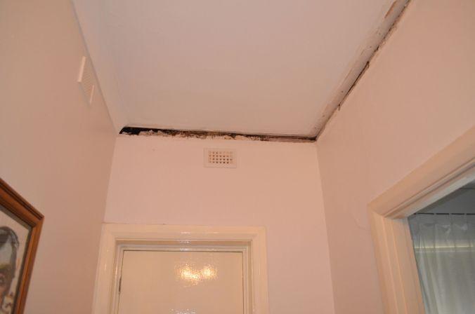 Gap between wall and ceiling above front door