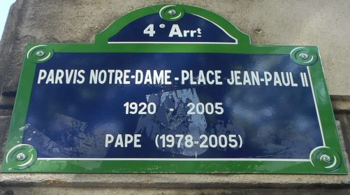 Notre dame sign paris france