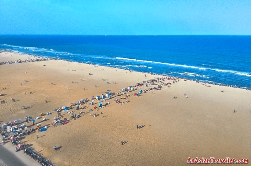 Marina Beach from Lighthouse, Chennai , Asian Traveller