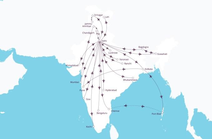 Vistara routes India