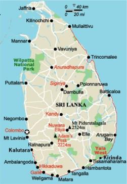 Srilanka route map