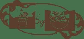 Mélanger 5 grammes de maca en poudre dans de l'eau, du jus, des smoothies ou du lait