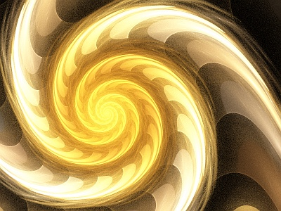 A bubbly flame spiral, made with Apophysis3D