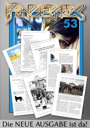 Vorschau auf die Schülerzeitung PHOENIX, Ausgabe 53
